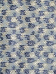 "Parrish Indigo:Thom Filicia Fabric by Kravet Fabric - 67% rayon / 33% poly up the roll jacquard pattern. 2.5 X 8.5"" repeat. Perfect for drapery or upholstery fabric. 56"" wide"