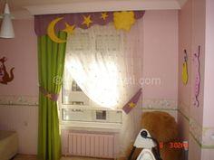 Güzel bebek odası perde süsü Galeri