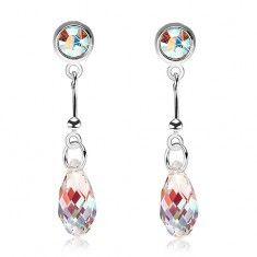 925 ezüst fülbevaló, világossárga csepp - Swarovski kristály, színes fény Drop Earrings, Jewelry, Jewlery, Jewerly, Schmuck, Drop Earring, Jewels, Jewelery, Fine Jewelry