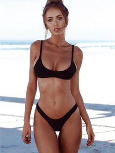 f88de170bdddb Simple Triangle Brazilian Two Piece Bikini Swimsuit. Stylnbo