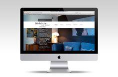 Bénédicte Mahé Derouet on Behance - Création et mise en ligne du site web