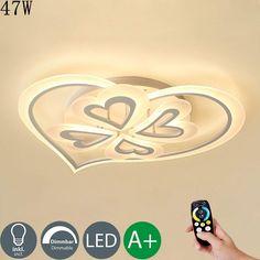 Decken Leuchten Fernbedienung RGB LED Farbwechsler Wohn Schlaf Zimmer Flur Lampe