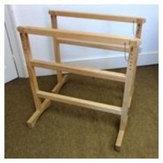 Hand made, solid beech Trestles. These provide a solid base to support a slate frame when working on any embroidery project. The Trestles are supplied in