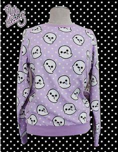 Hello Cavities Ghosty Sweatshirt by hellocavities on Etsy