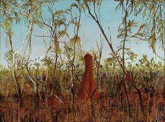 1917 - Dry Jungle, émail Ripolin sur carton fort, x cm, Sydney, Art Gallery of New South Wa. Sidney Nolan, Victoria Art, Australian Artists, Mythical Creatures, Creative Inspiration, Printmaking, Contemporary Art, Art Gallery, Nature