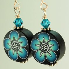 Polymer Clay Swarovski and Sterling Silver French by ikandiclay, $10.00