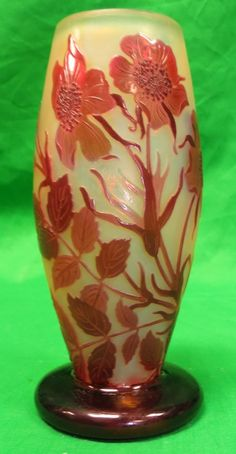 """Lot:Galle Vase (Original) Cameo Glass H: 6.2"""" France, Lot Number:48, Starting Bid:$750, Auctioneer:Carstens Galleries, Auction:Antique Ivory & European Art, Date:02:00 PM PT - Aug 27th, 2013"""