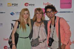 Hortensia Maeso junto a los bloggers Maribel Server y Charlie Cole