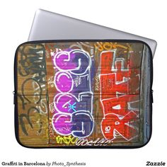 Choose from a variety of Graffiti laptop sleeves or make your own! Shop now for custom laptop sleeves & more! Computer Sleeve, Custom Laptop, Laptops, Laptop Sleeves, Graffiti, Barcelona, Phones, Phone Cases, Graphite