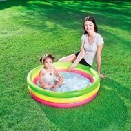 Featuring fun colors and a soft, inflatable design, this Summer Set Pool by Bestway will make a big splash with your little ones. Above Ground Pool, In Ground Pools, Safety Valve, Baby Jogger, Summer Set, All Kids, Toddler Toys, Little Ones, Outdoor Gardens