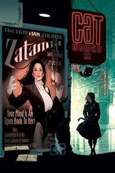 Adam Hughes - Expert in color usage - Catwoman #50