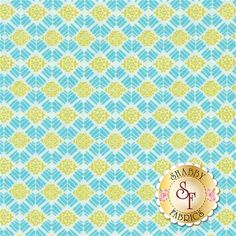 Liberty Garden 1706-84 Liberty Geo Turquoise by Dover Hill for Benartex Fabrics: Liberty Garden is a fresh floral collection by Dover Hill for Benartex Fabrics.Width: 43