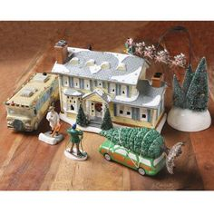 Find items like National Lampoon's Christmas Vacation Griswold House Illuminated with Lights - Collectible Figures at Wireless Catalog. Christmas Vacation Gifts, All Things Christmas, Winter Christmas, Christmas Holidays, Christmas Decor, Griswold Family Christmas, Lampoons Christmas, Christmas Villages, Holiday Fun