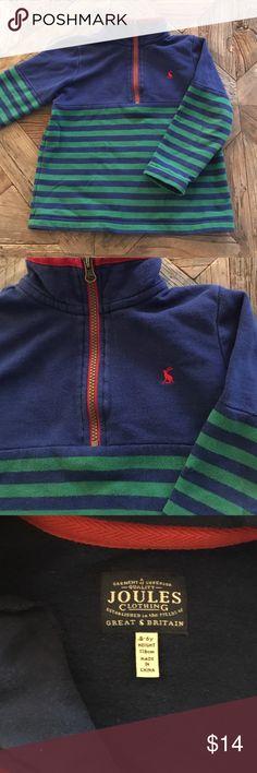 Joules half zip sweatshirt Adorable boys sweatshirt. Very gently worn, super high quality. Size 5-6 Joules Shirts & Tops Sweatshirts & Hoodies