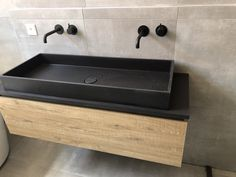 Modern Bathroom, Master Bathroom, Vanity Sink, Black House, Modern Industrial, New Homes, House Design, Shower, Decoration