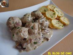 Albóndigas De Cerdo y Ternera a la Crema