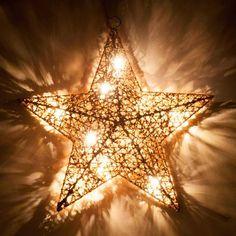 Étoile lumineuse pailletée H 30 cm COPPER