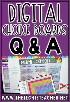 Do you have questions about how to use Digital Choice Boards in Google Slides? Come learn more about digital choice menus, how to assign them and why they are so great for differentiation! Classroom Websites, Life Skills Classroom, Classroom Resources, School Classroom, Classroom Ideas, Teaching Reading, Teaching Tools, Teaching Ideas, Project Based Learning