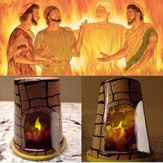 @yedid8a shares a craft they did based on the account of the 3 Hebrews who remained faithful despite being thrown in the furnace. Look closely and you can see them in the bottom right picture!  well done