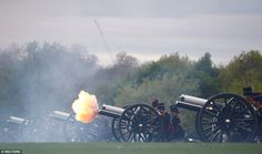 The 41-gun salute from Hyde Park today welcomed the birth of the Duke and Duchess of Cambridge's third child