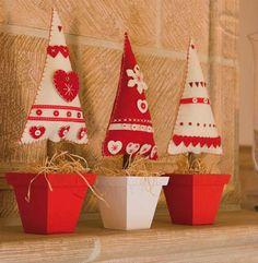 Inspiración para Labores de Navidad en Fieltro                                                                                                                                                      Más