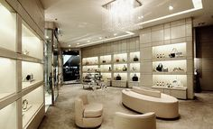 ladies boutique interiors | JIMMY CHOO Opens First Dual Gender Store @ Hong Kong Elements Jimmy Choo, Hong Kong, Garment District, Boutique Interior, Health Insurance Companies, Breakfast For Kids, Ladies Boutique, Lady, Vintage Shops
