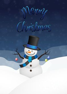 #Snowman #Christmas #GreetingCard #JHughesDesigns