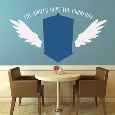The Angels Have the Phone Box  Dr Who  Wall Vinyl  by WallsOfText, $36.95