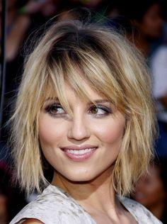 bangs medium length hair
