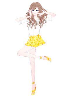会報誌のイラスト『お嬢様の花園 vol.3』の画像:necoya illustration blog *猫屋的日記*