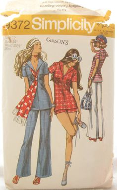 1970s Simplicity 9372 Bell Bottom Pants and Tunic by EmSewCrazy Too funny I still own this pattern!!!