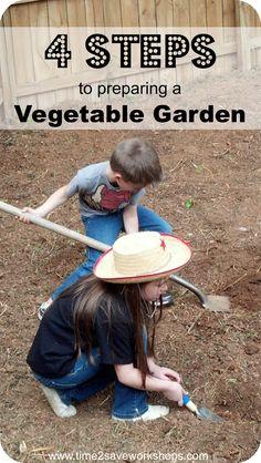 4 Easy Steps to preparing a Vegetable Garden #gardening