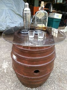Fresh Design Furniture Upcycled silver beer keg table Keg table
