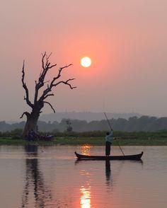 #wow  Sonnenuntergang in #Burma bei der #ubeinbridge  Not bad... #mandalay #myanmar