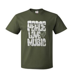 peace love music tshirt from teeshope.com This t-shirt is Made To Order, one by one printed so we can control the quality.
