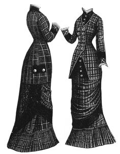 1878 Scotch Plaid Dress
