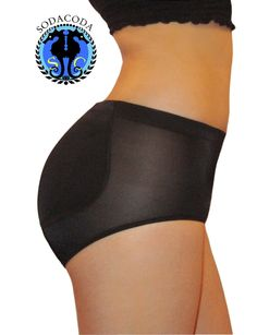 Silicone padded pants in Black