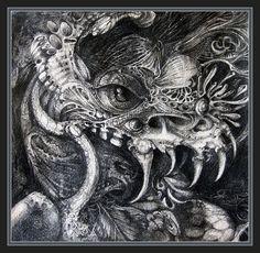 Cherubim Of Beasties Drawing  - Cherubim Of Beasties Fine Art Print