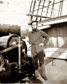 Civil War Union Sailor aboard the U.S.S New Hampshire in 1864.  #scenesofnewenland #soNE #soNHhistory #soNH #NewHampshire #NH #history