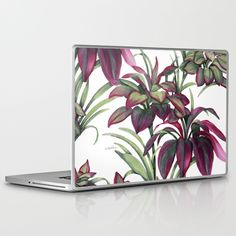 Tropical Leaves Sing Laptop & iPad Skin by Vikki Salmela, new #tropical #Hawaiian #jungle #garden #watercolor #art on #fashion #tech #accessories, #laptop cases plus #phone #ipad covers and coordinating products to accessorize. Bring it to the #office, #school, #travel or keep your fun at home! Great #gift ideas for #her or #Mom.....