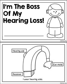 Hearing aid social story for self advocacy, teaching deaf and hard of hearing students about hearing aids, the FM, self advocacy Deaf Education Activities, Preschool Special Education, Teaching Resources, Speech Language Pathology, Speech And Language, Hearing Impairment, Deaf Children, Sensory Therapy, Self Advocacy