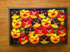 Angry bird cakejes om op school te trakteren.