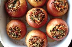 http://cosmocookie.blogspot.com/2012/11/baked-apples-with-savory-pork-stuffing.html