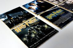 Harry Potter Movie Posters Cork Coasters Set by OneofaKindbySSD