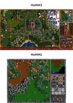 HoMM2&3 map comparision