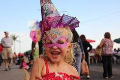 Ouest (3-years-old) enjoying her first Carnival. Mazatlan 2013