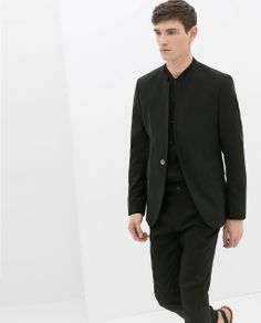ZARA - MAN - BLAZER WITH NO LAPEL