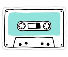'Retro tape cassette' Sticker by MheaDesign Casette Tapes, Cassette Tape Art, Cute Diary, Music Doodle, Tape Painting, Great Smiles, Simple Doodles, Aesthetic Stickers, Stickers