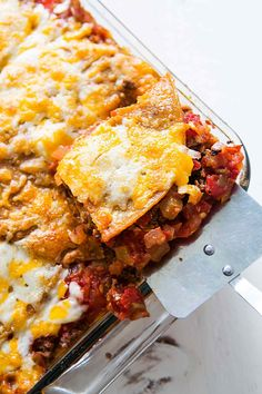 Mexican Lasagna! Also known as Mexican casserole or Stacked Enchilada, this…