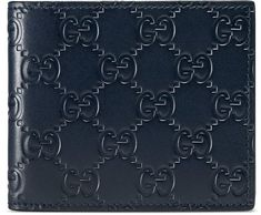 0aed074b4f82 Shop the Gucci Signature wallet by Gucci. Gucci Signature bi-fold wallet  with tonal leather details.